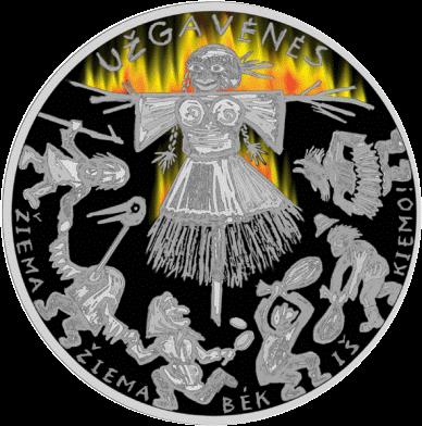 Литва монета 5 евро Ужгавенес, реверс
