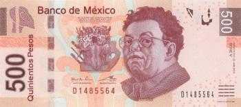 Мексика банкнота 500 песо 2002 год лицевая сторона
