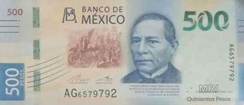Мексика банкнота 500 песо 2018 год лицевая сторона