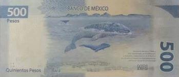 Мексика банкнота 500 песо 2018 год оборотная сторона