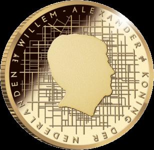 Нидерланды монета 10 евро Схокланд, аверс