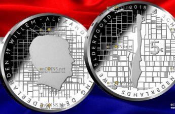 Нидерланды монета 5 евро Схокланд