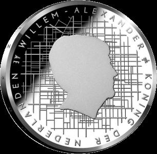 Нидерланды монета 5 евро Схокланд, аверс