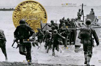 Ниуэ монета 25 долларов Битва за Гуадалканал