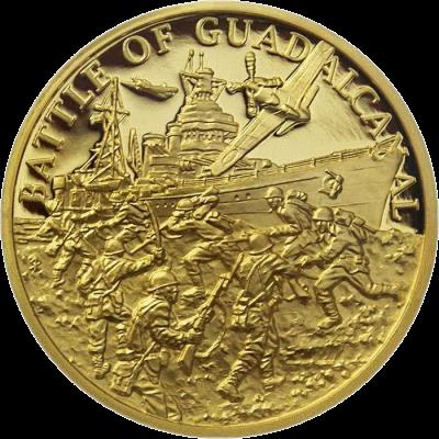 Ниуэ монета 5 долларов Битва за Гуадалканал, реверс