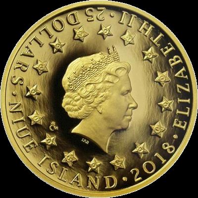 Ниуэ монета 25 долларов серия Война 1943 год, аверс