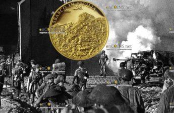 Ниуэ монета 25 долларов Высадка в Сицилии