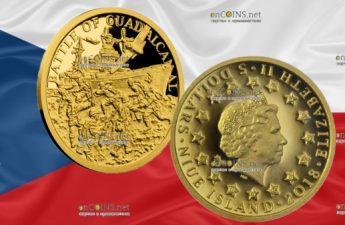 Ниуэ монета 5 долларов Битва за Гуадалканал