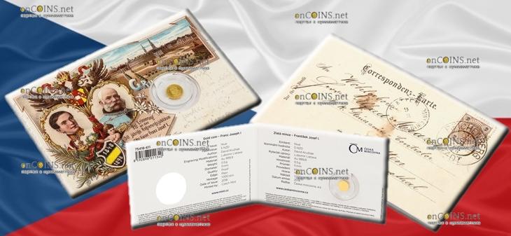 Ниуэ монета 5 долларов Франц Иосиф I, подарочная упаковка