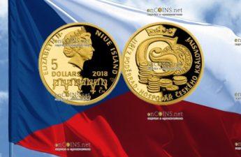 Ниуэ монета 5 долларов Йиржи-Подебрад - Король Чехии