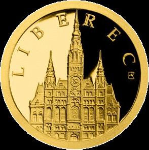 Ниуэ монета 5 долларов Ратуша города Либерец, реверс
