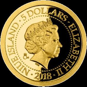 Ниуэ монета 5 долларов серии Старые виды на открытках, аверс