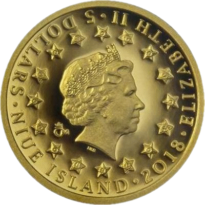 Ниуэ монета 5 долларов серия Война 1943 год, аверс