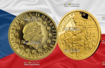 Ниуэ монета 5 долларов Восстание в Варшавском гетто
