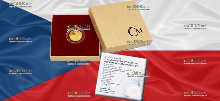 Ниуэ монета 5 долларов Восстание в Варшавском гетто, подарочная упаковка