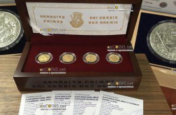 Ниуэ набор монет Жизнь Йиржи-Подебрада