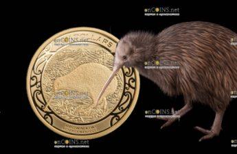 Новая Зеландия монета 10 долларов Коричневый Киви