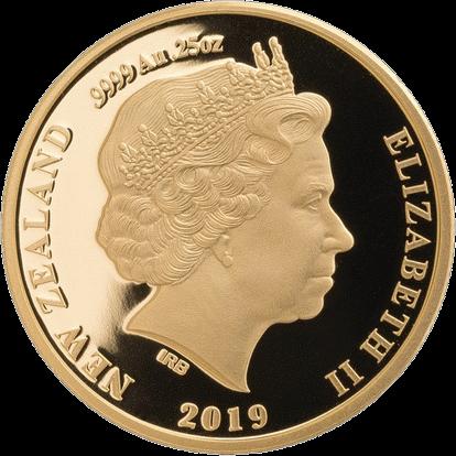 Новая Зеландия монета 10 долларов Коричневый Киви, аверс