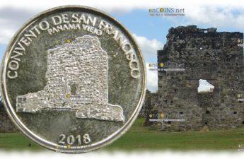 Панама монета 0,5 бальбоа Монастырь Сан-Франциско