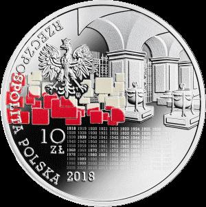 Польша монета 10 злотых Мы поляки, гордые и свободные, аверс