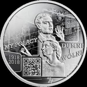 Польша монета 10 злотых Мы поляки, гордые и свободные, реверс
