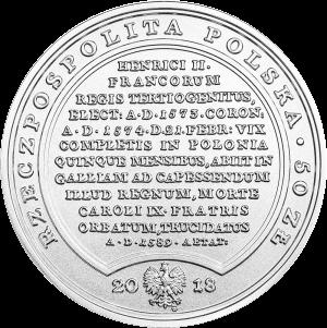 Польша монета 50 злотых Генриха Валуа, аверс