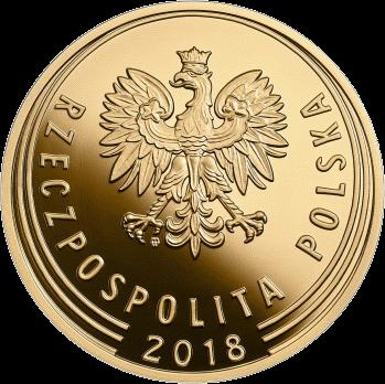 Польша золотая монета 1 злотый 100-летие восстановления независимости Польши, аверс