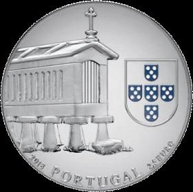 Португалия монета 2,5 евро Зернохранилища на северо-западе Португалии, аверс