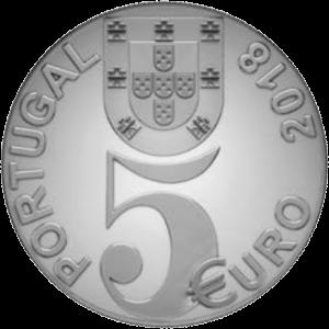 Португалия монета 5 евро 100-летие перемирия, аверс