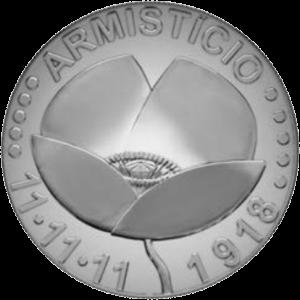 Португалия монета 5 евро 100-летие перемирия, реверс