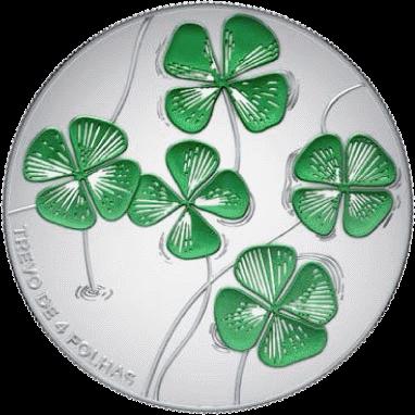 Португалия монета 5 евро Четырехлистный клевер, реверс