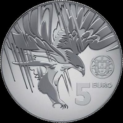 Португалия монета 5 евро Могильник, аверс
