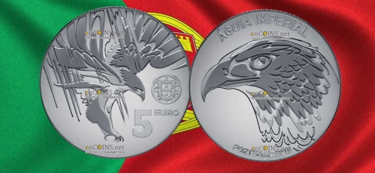 Португалия монета 5 евро Могильник
