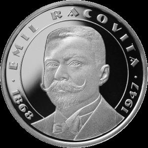 Румыния монета 10 лей Эмиль Раковицэ, реверс