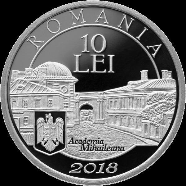 Румыния монета 10 лей Ион Ионеску, аверс