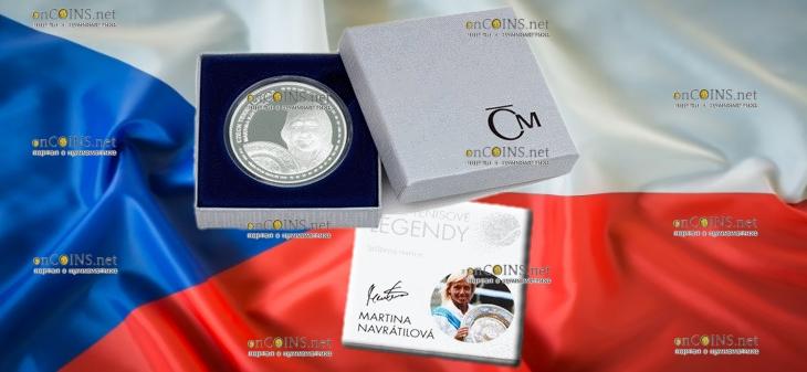 Самоа монета 2 доллара Мартина Навратилова, подарочная упаковка