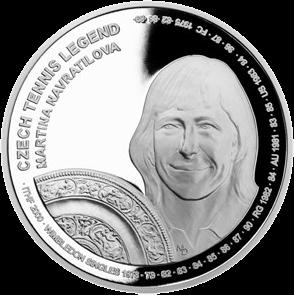 Самоа монета 2 доллара Мартина Навратилова, реверс
