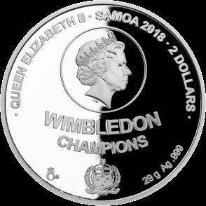 Самоа монета 2 доллара серия Чешские легенды тенниса, аверс