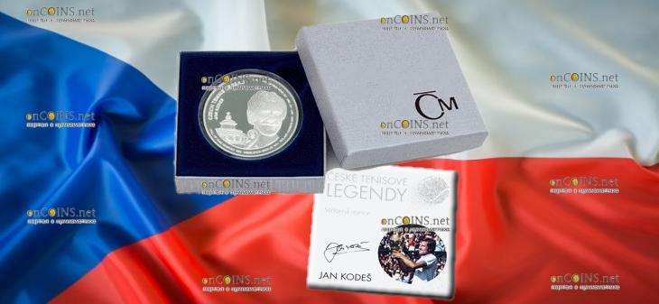 Самоа монета 2 доллара Ян Кодеш, подарочная упаковка