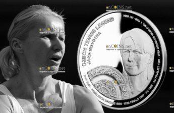 Самоа монета 2 доллара Яна Новотна