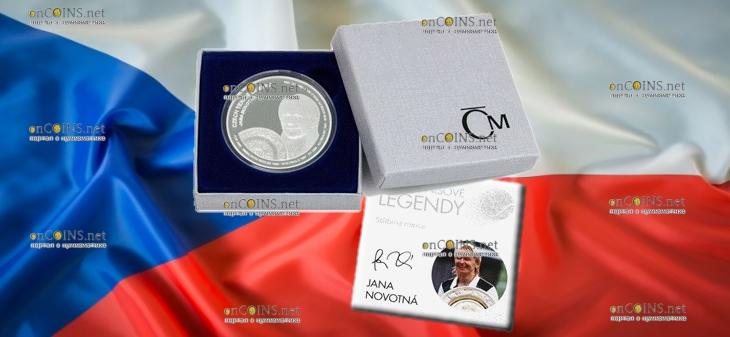 Самоа монета 2 доллара Яна Новотна, подарочная упаковка