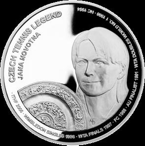 Самоа монета 2 доллара Яна Новотна, реверс