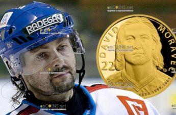 Самоа монета 25 долларов Давид Моравец