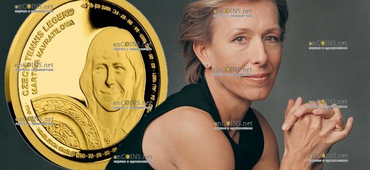Самоа монета 25 долларов Мартина Навратилова