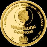 Самоа монета 25 долларов серия Чешские легенды тенниса, аверс