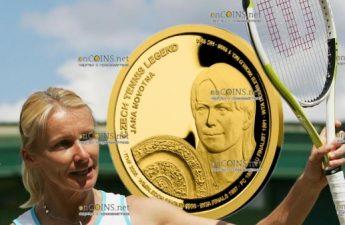 Самоа монета 25 долларов Яна Новотна