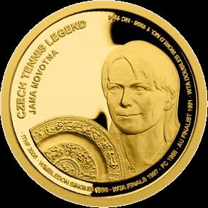 Самоа монета 25 долларов Яна Новотна, реверс