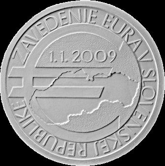 Словакия монета 10 евро 10-летие введения евро в Словакии, реверс