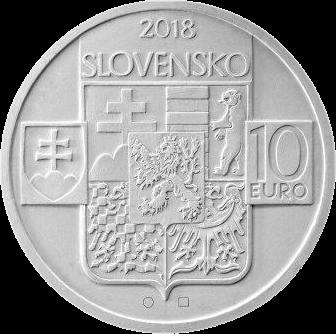 Словакия монета 10 евро 100-летие образования Чехословацкой Республики, аверс
