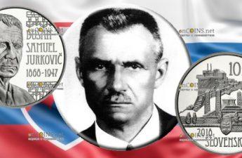 Словакия монета 10 евро 150-летие со дня рождения Душана Самуэля Юрковича